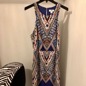 Cato plus size maxi dress in colorful geo pattern